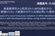 【O-36】発達遅滞児から同定されたNFIA遺伝子の新規ミスセンス変異のモデル生物を用いた解析