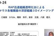 【O-24】RAP迅速組織透明化法によるマウス各種臓器の深部組織3Dイメージング